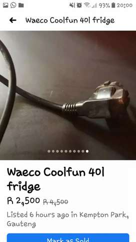 Waeco coolfun 40l Fridge