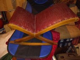 Leżak bujak drewniany dla dziecka