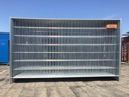 Ogrodzenie budowlane tymczasowe Ażurowe - Panel- komplet 2000x3500mm