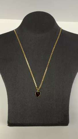 Gold chain.with heart pendant