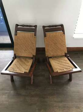 Two foldable chairs