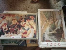 Puzzles 8 dffrent box all completed