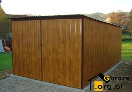 Garaż blaszany 3x5 drewnopodobny Garaże blaszane blaszaki KUP TERAZ