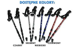 NORDIC WALKING Kijki 2szt Alu Anti Shock