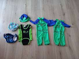 6-12 month Baby swimsuits and resusable swim nappies