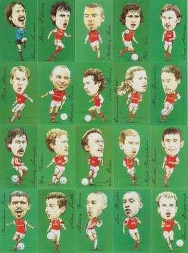 Arsenal Famous Footballers Cards by Stubbs