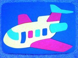 Пазлы Самолет для детей 1-3 года.
