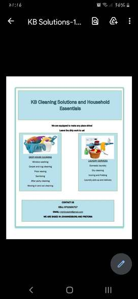 KB Cleaning Solutions and Household Essentials