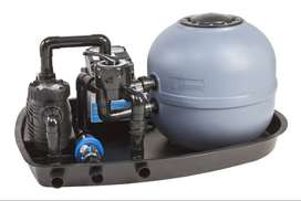 Swimming pool pump and filter units