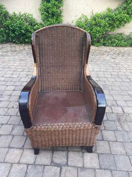 10 x Cane Dining/Patio chairs for sale