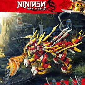 pcs Ninja Burning Lion Building Blocks Compatible with lego et