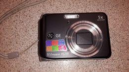 GE A1250 Black 12.2 MP 5X Optical Zoom Digital Camera