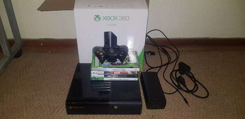 500GB Xbox 360 in box with games for sale or swap 0