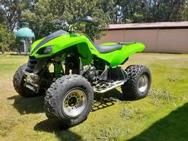 Kawasaki 700 with a super bike motor in it and it is a honda cbr 400r