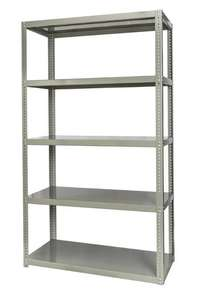Image of Ivory bolted shelving units 5 levels R699
