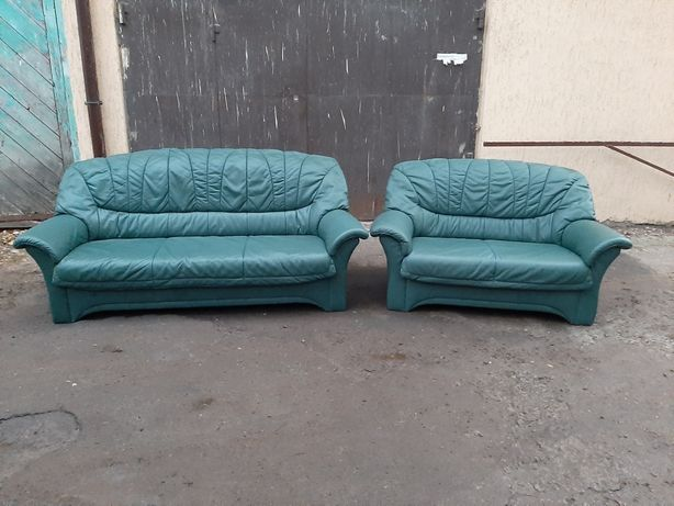 Шкіряний диван 3ка і 2ка Шкіряні дивани Кожаная мебель Гарнітур