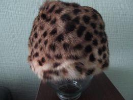 Шапка теплая натуральная женская , на объем 56-57 см