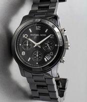 zegarek ceramiczny Michael Kors czarny