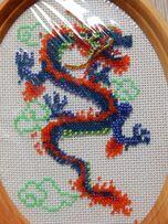"Вышивка ""Китайский синий дракон"""