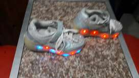 Debs ball dress / shoe/ and willie takkies which as lights