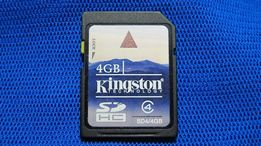 Карта памяти SDHC Kingston 4GB C4 MADE IN JAPAN