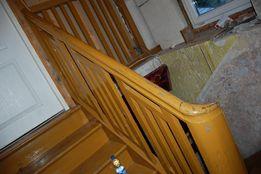 Antyk Antyczna Poręcz Balustrada do Schodów Drewniana 1936 rok Schody