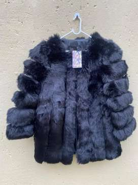 Thick Warm Faux Fur Coat - High Quality - Black
