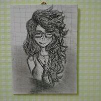 Картина девушка студентка