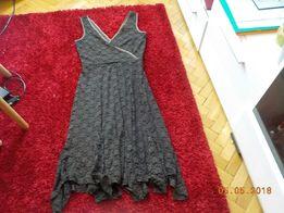 """Sukienka z koronki bez rękaw """"ciemna czekolada"""" Piękna b.elegancka 40"""
