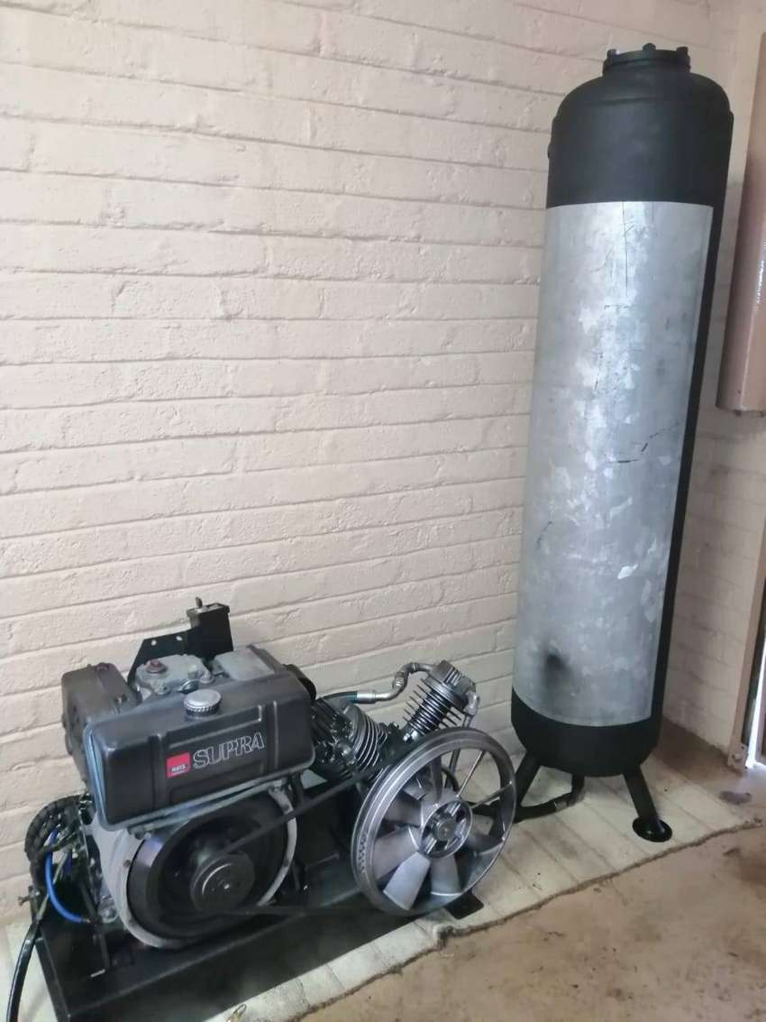 Hats 10.5 Hp diesel engine and air compresor 200l 0