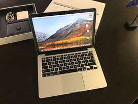 "MacBook Pro 13 inch"", 8 GB Ram, Up to 3.7Ghz speeds, 256 SSD, Retina."