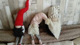 Mikołaj krasnale święta dekoracje pluszak ręcznie robione