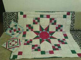 Набор: Одеяло детское и 2 наволочки уникальной ручной работы