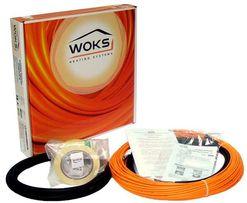 Теплый пол под плитку, тонкий кабель, маты Woks-10 (Вокс)