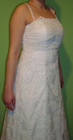 Sprzedam śliczną suknię ślubną z koronki. Przeworsk - image 3