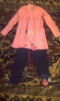Костюмчик на девочку 2-4 года лосины туника