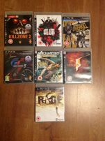 7szt. Gier na PS3 gry killzone 2 ,Rage, Club, uncharted, GT5, overkil