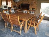Image of Wooden patio set