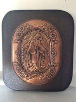 obraz relief obrazek Matka Boska Maryja miedziana dewocjonalia