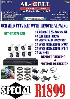 8CH AHD CCTV KIT WITH REMOTE VIEWING MOTION DETECTION