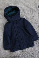 пальто H&M на мальчика т.синее 3-4 года