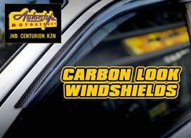 Windshields in 3D carbon look for most cars and bakkies