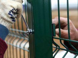 Забор из сетки , Сварная 3d сетка, ворота калитки
