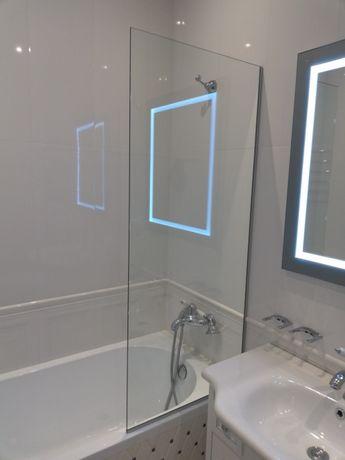 Шторка для ванной из безопасного стекла Харьков - изображение 2