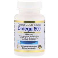 California Gold Nutrition, Омега 800, рыбий жир