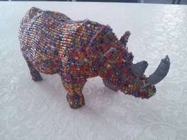 Beautiful African Hand Made Rhino