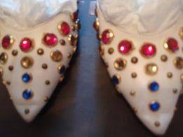 Балетки туфли Vero Guchi оригинал натуральная кожа белые с камнями