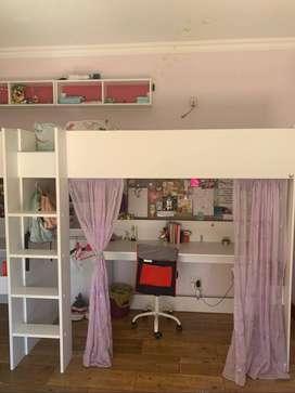 kids bed & desk combo _ price reduced