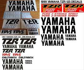Yamaha TZR decals graphics / vinyl cut sticker kits