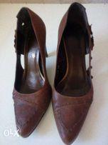 Женские кожанные туфли производства Польша